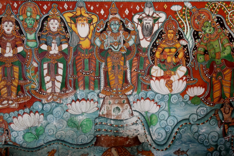 IMG_1092_India_Kerala_Ayurveda_Coconut_Bay_resort_mural_painting_Vishnu_1200